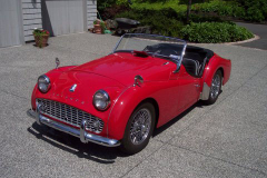 1962 Triumph TR3B - $45,000